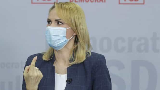 """Gabriela Firea acuză Ministerul Sănătății de dezinformare și îi liniștește pe bucureșteni: """"Capitala nu e focar de infecție! Avem destule paturi în secțiile ATI"""""""