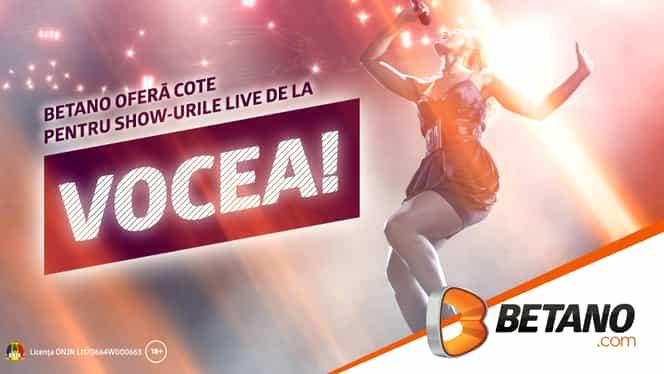 (P) Betano oferă cote pentru show-urile live de la Vocea! Marii favoriți la trofeu