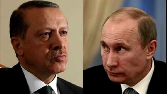 Kremlinul a anulat întîlnirea lui Putin cu Erdogan programată marţi