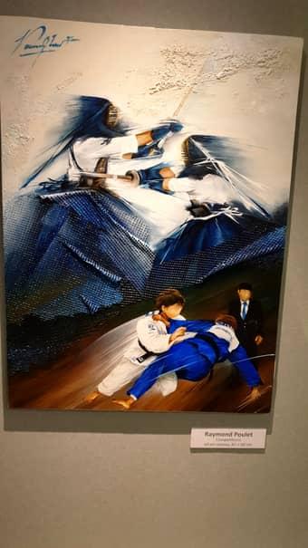 """Raymond Poulet și tablourile sale au """"îmbogățit"""" CM de judo organizate de Marius Vizer și echipa sa la Tokyo, în luna august 2019"""