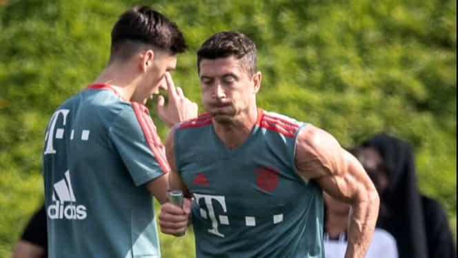 Tensiune la antrenamentele lui Bayern. Robert Lewandowski și-a lovit un coechipier