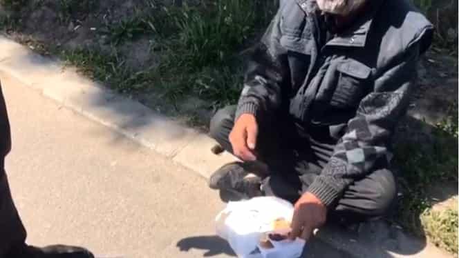 """Un cerșetor din Constanța povestește cum câștigă 1.200 de lei pe zi: """"Cât iei tu într-o lună, eu fac în două zile"""". Video"""