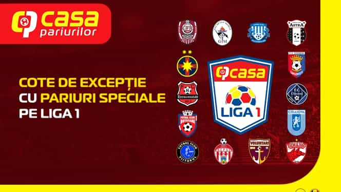 Casa Pariurilor îți oferă cea mai bogată ofertă de pariuri speciale pe Liga 1