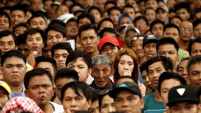 Imagini UNICE / NEBUNIE la Manilla! Sute de MII de oameni au ieşit în stradă pentru a-l susţine pe Pacquiao