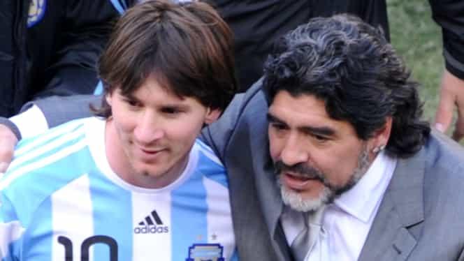 Foto. Cadoul lui Maradona pentru fiul lui Messi. Va fi fotbalist?