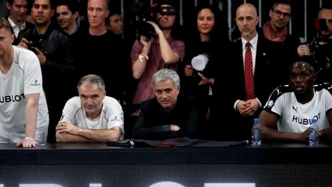 Foto. Bolt vs Maradona, meci caritabil! Jamaicanul, antrenat de Mourinho