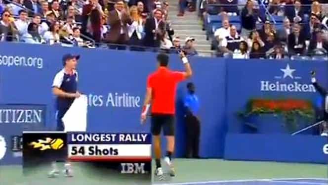 VIDEO / Cel mai lung schimb din finala US Open