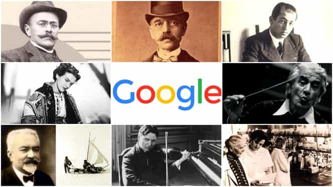 Care au fost românii celebrați de Google de-a lungul timpului. Nume grele pe listă