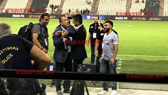 George, fiul lui Ivan Savvidis, primul care l-a felicitat pe Răzvan Lucescu după PAOK – AEK 2-0. Imagini exclusive cu bucuria miliardarului