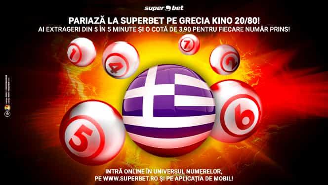 (P) Grecii ne-au adus Jocurile Olimpice, dar și o SuperLoterie! Joacă Grecia Kino 20/80 pe site-ul Superbet și pe aplicația de mobil!