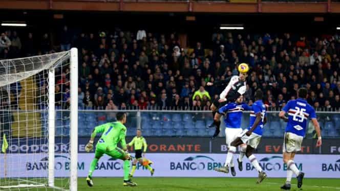 """Curg reacțiile după golul extraterestru marcat de Cristiano Ronaldo în Sampdoria – Juventus: """"Air Ronaldo!"""", """"Portughezul nu e om"""" sau """"E magician, nimeni nu poate înscrie așa"""""""