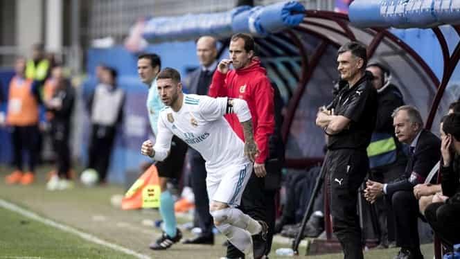 Nu s-a putut abţine! Ramos, absent cinci minute în meciul cu Eibar. Zizou a clarificat totul