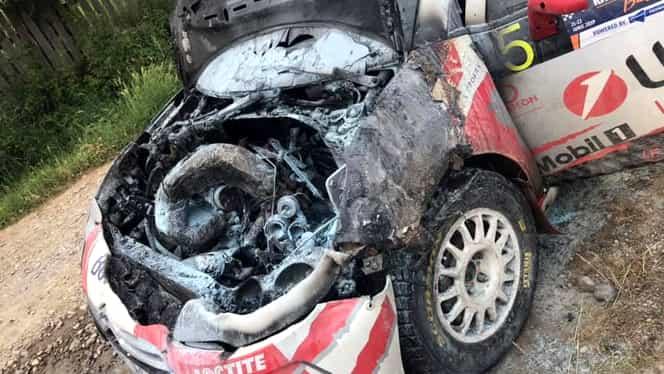 Cum a fost transformată o mașină care era daună totală în urmă cu două săptămâni! Acum e gata de start la Raliul Harghitei