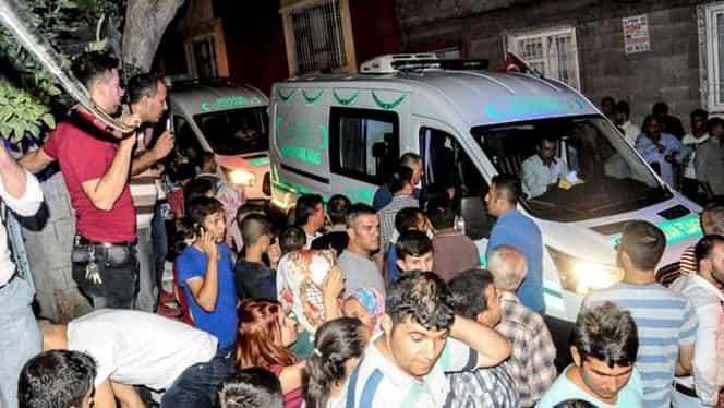 Cel puţin 22 dintre victimele atacului sinucigaş din Gaziantep aveau sub 14 ani