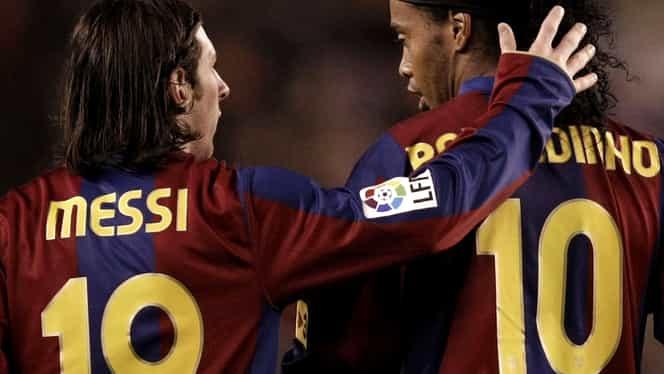 Ronaldinho, pus să aleagă între Cristiano Ronaldo şi Messi. Ce a spus brazilianul