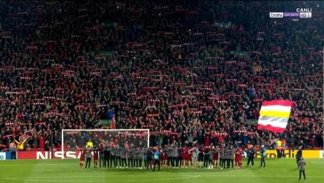 """Liverpool – Barcelona 4-0. Video. Jucătorii şi fanii au cântat cu lacrimi în ochi """"You will never walk alone!"""""""