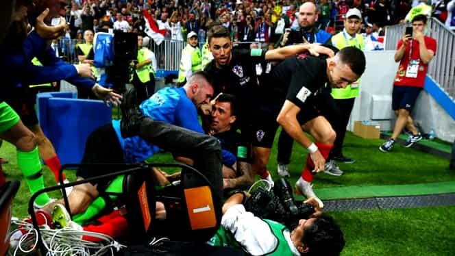 Croaţii scriu istorie! Prima calificare în finala Cupei Mondiale datorită golului din prelungiri al lui Mandzukic. Foto