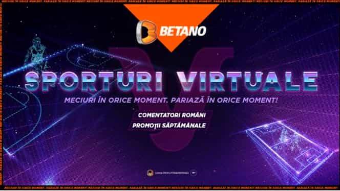 """(P) """"V"""" de la Virtuale. Ce sunt Sporturile Virtuale de pe Betano, cum le joci și ce trebuie să știi despre ele"""