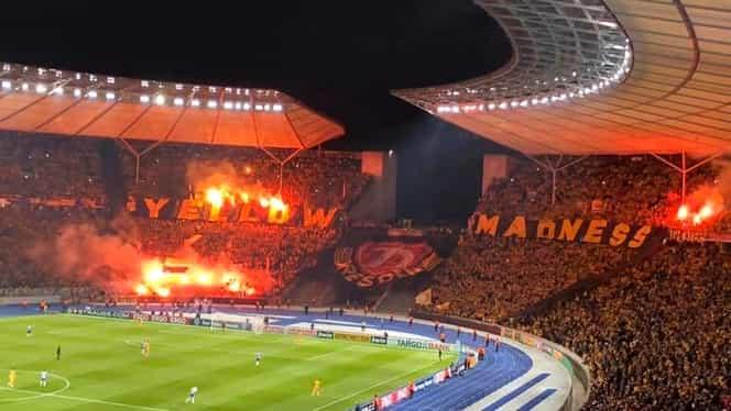35.000 de suporteri ai lui Dynamo Dresda în deplasarea de la Hertha Berlin din Cupa Germaniei. VIDEO