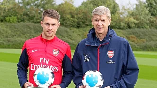 Arsenal a reuşit dubla: Wenger şi Ramsey sînt premianţii lunii