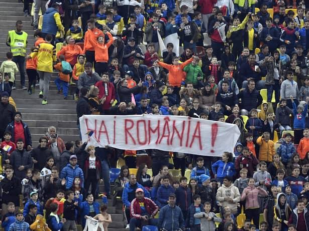 Banner-ul afișat la meciul România - Norvegia 1-1. Cele mai tari imagini de la duelul de pe Arena Națională. Sursă foto: sportpictures.eu
