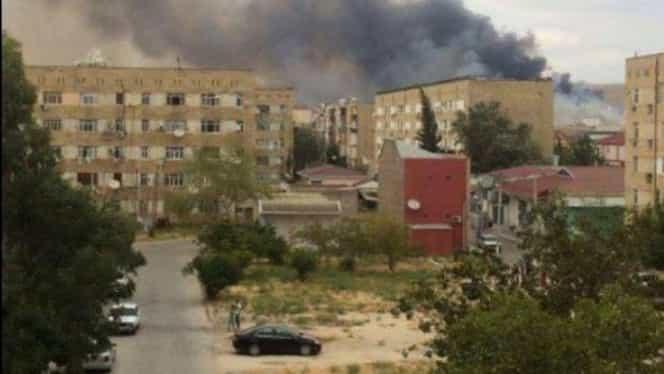 VIDEO. Explozie puternică la o fabrică de arme din Azerbaijan