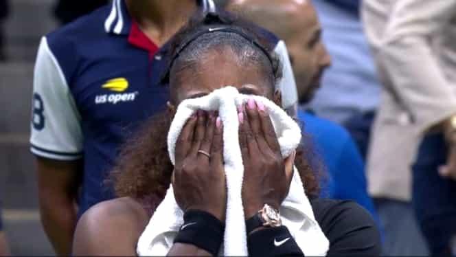 """Serena Williams, lacrimi şi scandal în finala US Open 2018! Video. """"Eşti un hoţ! Nu am trişat în viaţa mea!"""""""