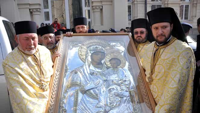 """Calendar ortodox, 12 iulie. Se prăznuiește Icoana Maicii Domnului numita """"Prodromita"""". Ce minuni a făcut!"""