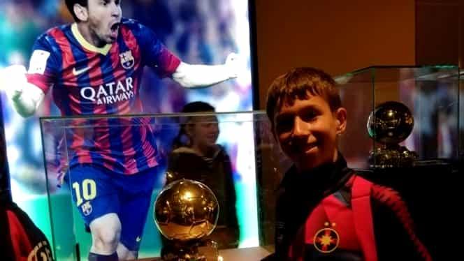 """""""Messi din România"""" are 12 ani şi joacă la FCSB! Becali a dat 20.000 de euro pe el. Povestea INCREDIBILĂ a puştiului"""