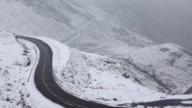 Vremea s-a schimbat radical în România! Ninge ca în povești pe Transfăgărășan