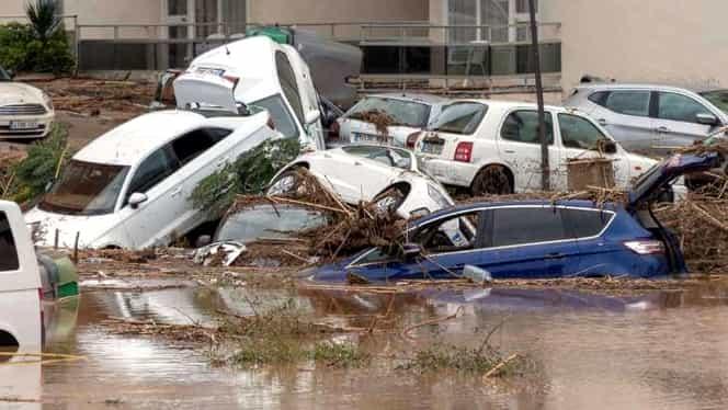 Dezastru la Madrid! Capitala Spaniei inundată după o furtună. Video cu străzile înghițite de ape