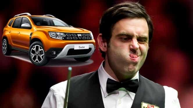 "Ronnie O'Sullivan a testat Dacia Duster: ""Arată grotesc, dar face toţi banii"""