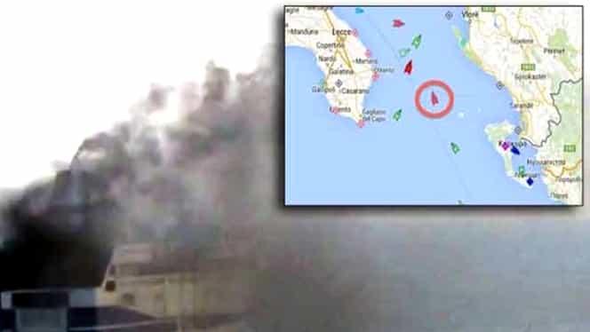 VIDEO / O ROM NCĂ, pe feribotul care a luat foc