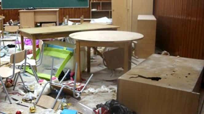 """Trei copii din Clejani au devastat o școală! Florin Nidelea, primar: """"Unul are o adeverinţă dubioasă că e apt, vom verifica"""""""