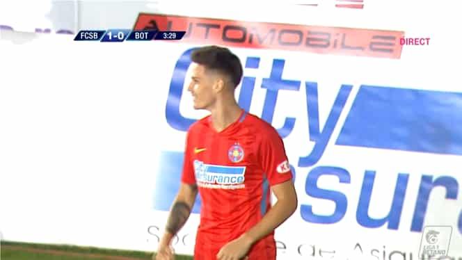 Gol cu călcâiul pentru Dennis Man în FCSB – Botoșani 1-0. Video
