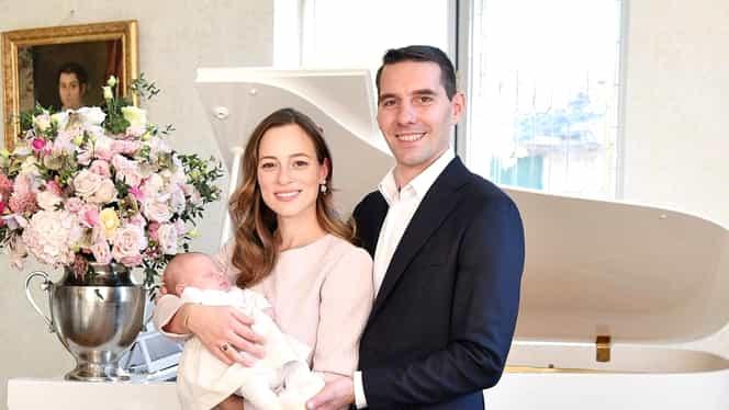 Principele Nicolae și soția, primul Paște alături de fiica lor. Cum s-au îmbrăcat cei trei
