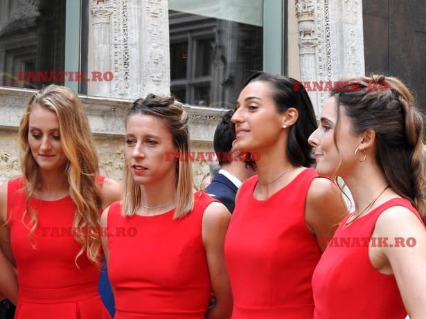 Video exclusiv. Franţa – România, varianta sexy! Fetele au făcut senzaţie la dineul oficial al semifinalei Fed Cup