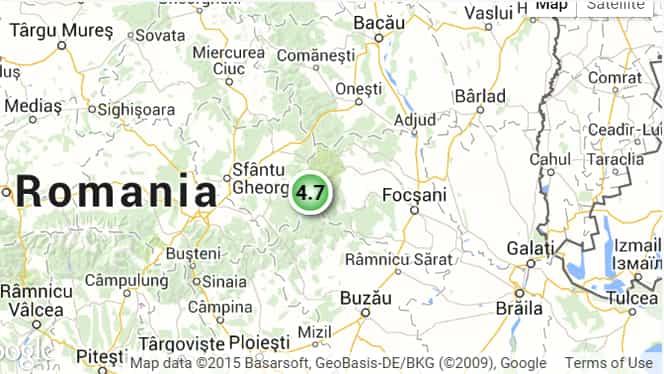 CUTREMUR 16 MARTIE. Seism cu magnitudine 4,7 în România