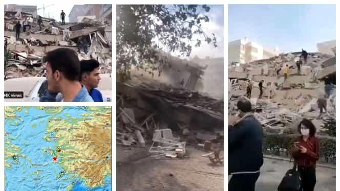 Video. Izmir în ruine! Primele imagini după cutremurul devastator din Marea Egee