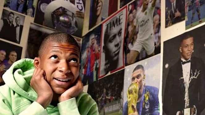 Mbappe și-a scos din cameră posterele cu Ronaldo. Ce imagini a pus în locul idolului său. Foto