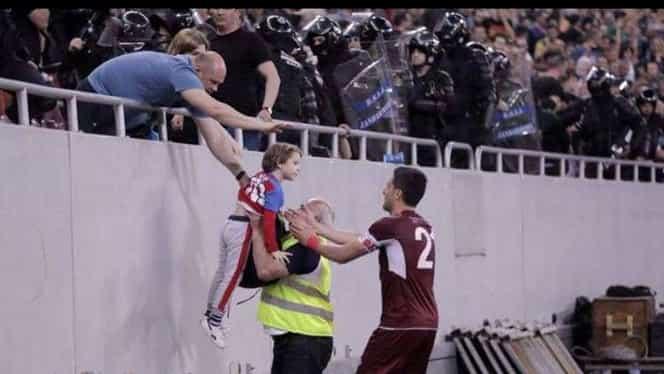 Daniel Niculae, erou la Steaua – Rapid! Atacantul a salvat un copil!