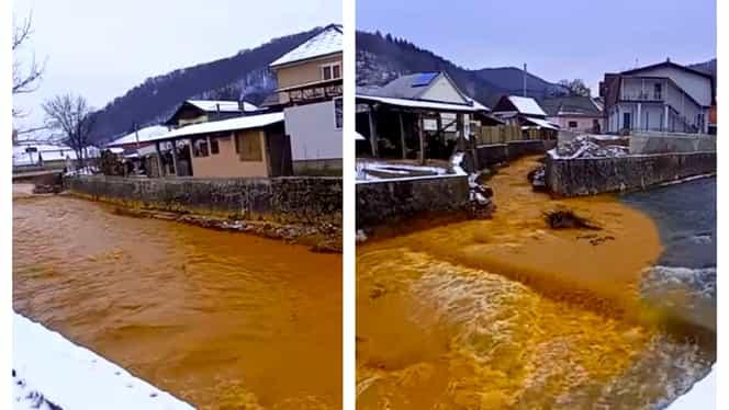 Ape de mină neepurate, într-un râu din Maramureș. Poluarea, semnalată de Apele Române. Video