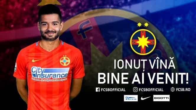 """Ionuț Vînă la FCSB! Becali a confirmat FANATIK. """"A semnat!"""" Prima reacție a mijlocașului. """"A contat mult!"""" Câți bani primește Hagi și ce număr va purta fotbalistul. EXCLUSIV"""