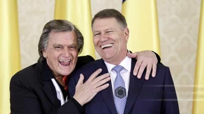 """""""Știţi ce mi-a zis «neamțu'»?"""" Dialogul spumos dintre preşedintele Klaus Iohannis şi Florin Piersic de ziua sa"""