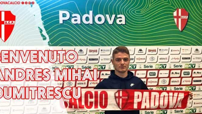 Căpitanul naționalei U17, Andres Mihai Dumitrescu, a semnat cu o echipă din Italia