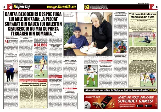 """Citește un reportaj senzațional despre fuga lui Miodrag Belodedici din România comunistă numai în revista FANATIK din mai! Amănunte incredibile direct de la """"dezertor"""" și de la mama sa!"""