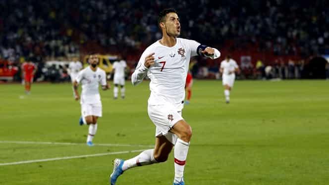 Cristiano Ronaldo, omul recordurilor! Portughezul a reușit cele mai multe hattrick-uri din istoria fotbalului şi a devenit cel mai bun marcator din preliminariile Euro