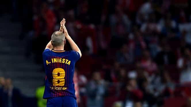 Barcelona pregăteşte o coregrafie impresionată pentru Andres Iniesta. Foto