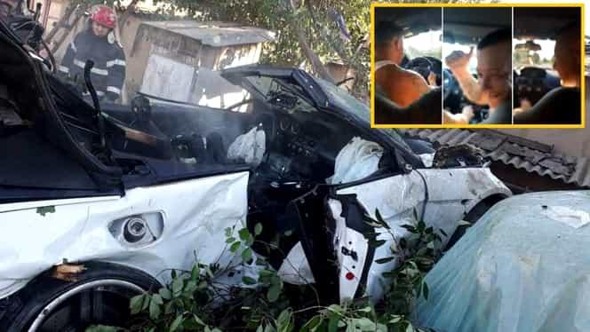 """Ce a spus pasagerul de pe """"locul mortului"""", în accidentul din Tulcea filmat chiar din interiorul mașinii!  """"Băi, ăștia care nu aveți inimă, stați pe dreapta"""". Video"""