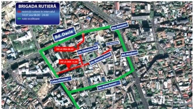 Trafic restricţionat în Bucureşti, de Ziua Franţei. Ce zone sunt afectate